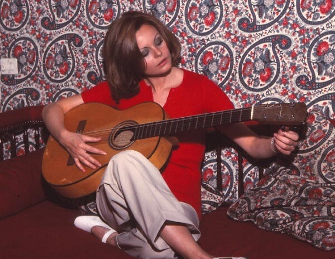 Rocio Durcal in her house