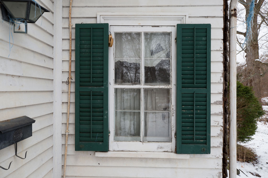 shutters surround a window