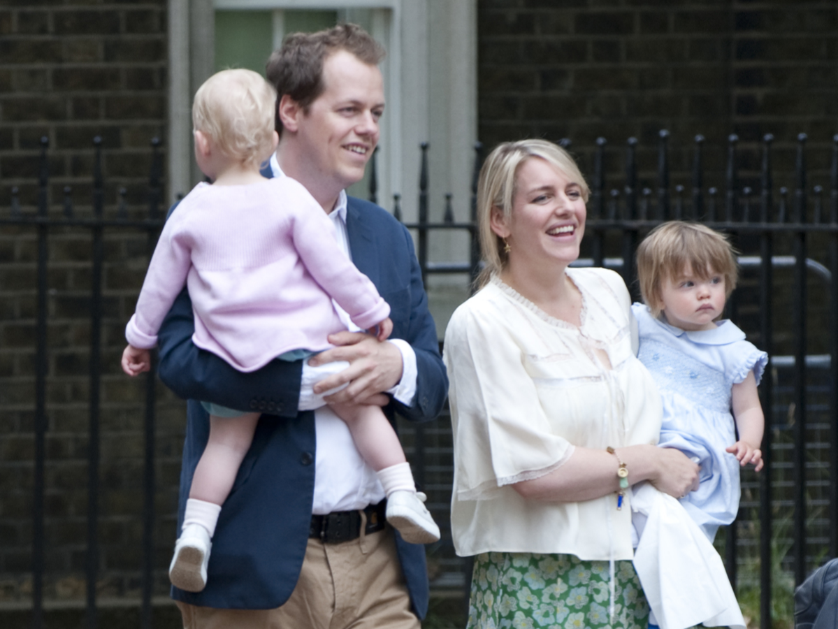 laura lopes and tom parker bowles with their daughters.