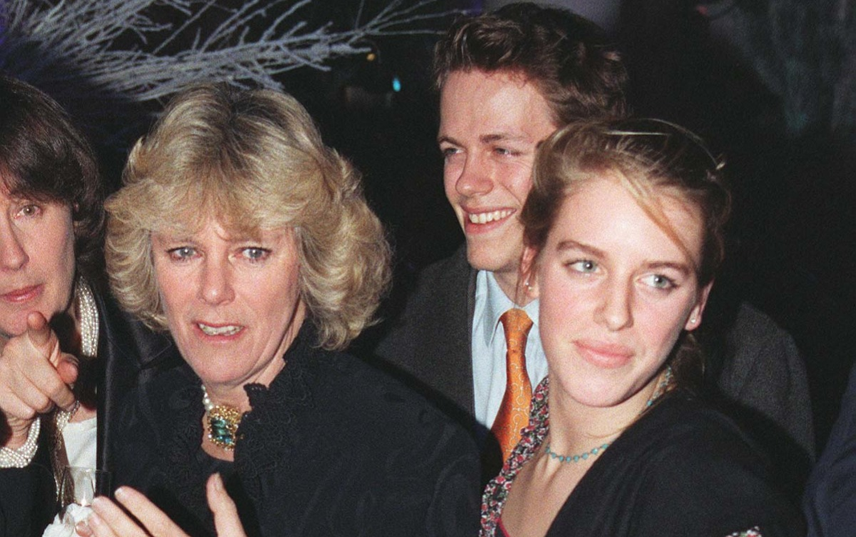 Camilla Parker Bowles is joined by her children Tom and Laura at celebrity launch party for the opening of the first London store by leading Geneva jewellers de Grisogono.