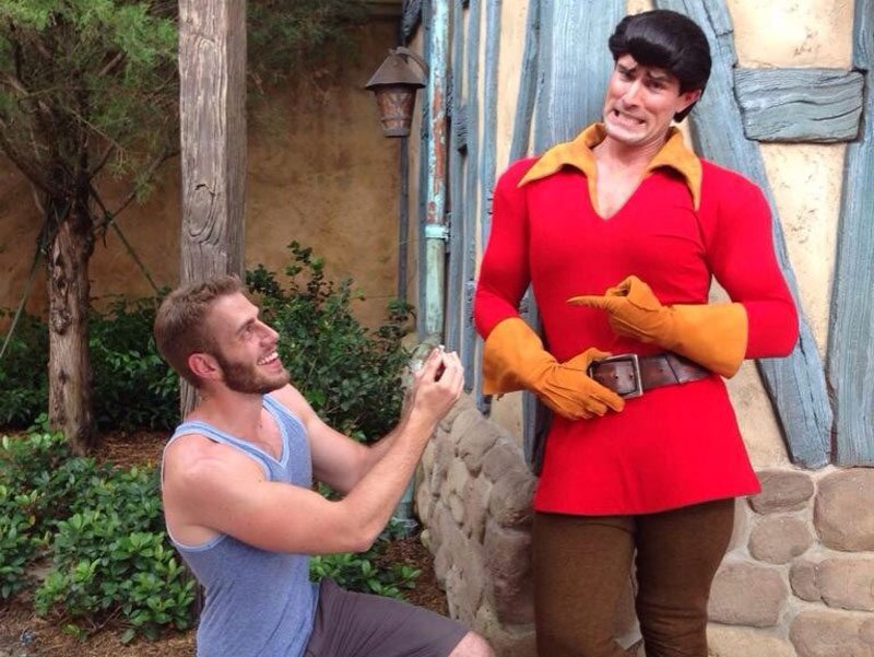 proposing to Gaston