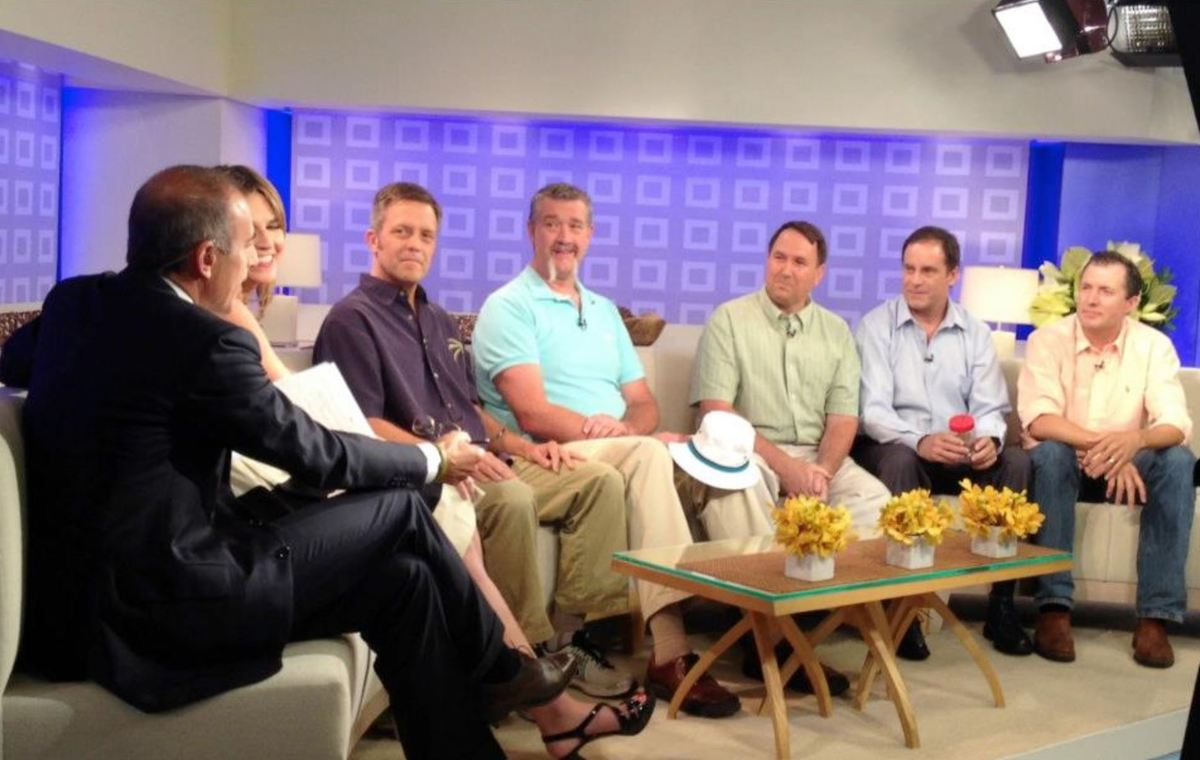 the five friends on The Today Show with Matt Lauer