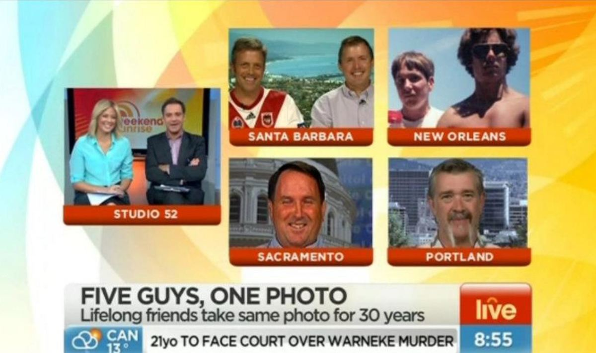 the five friends on the news