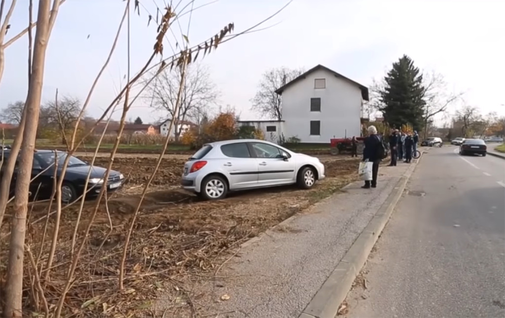 Cars stuck in the soil