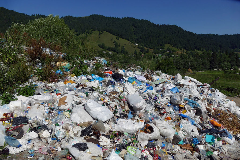 Landfill in the hills