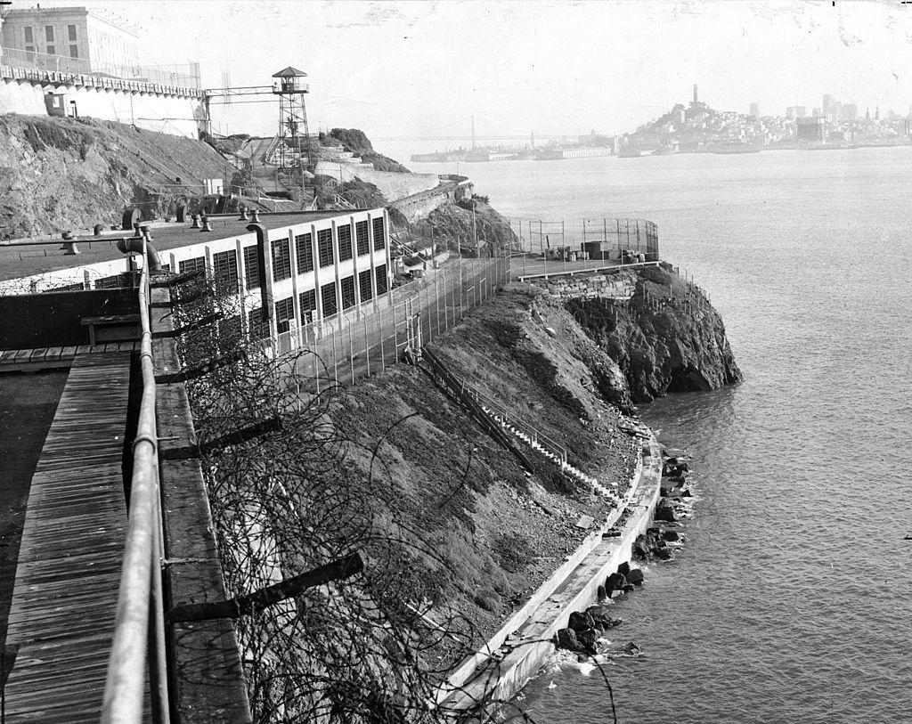 alcatraz prison cells n the shoreline