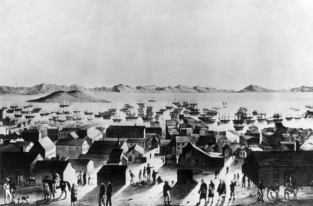 the population of san francisco exploded during the gold rush