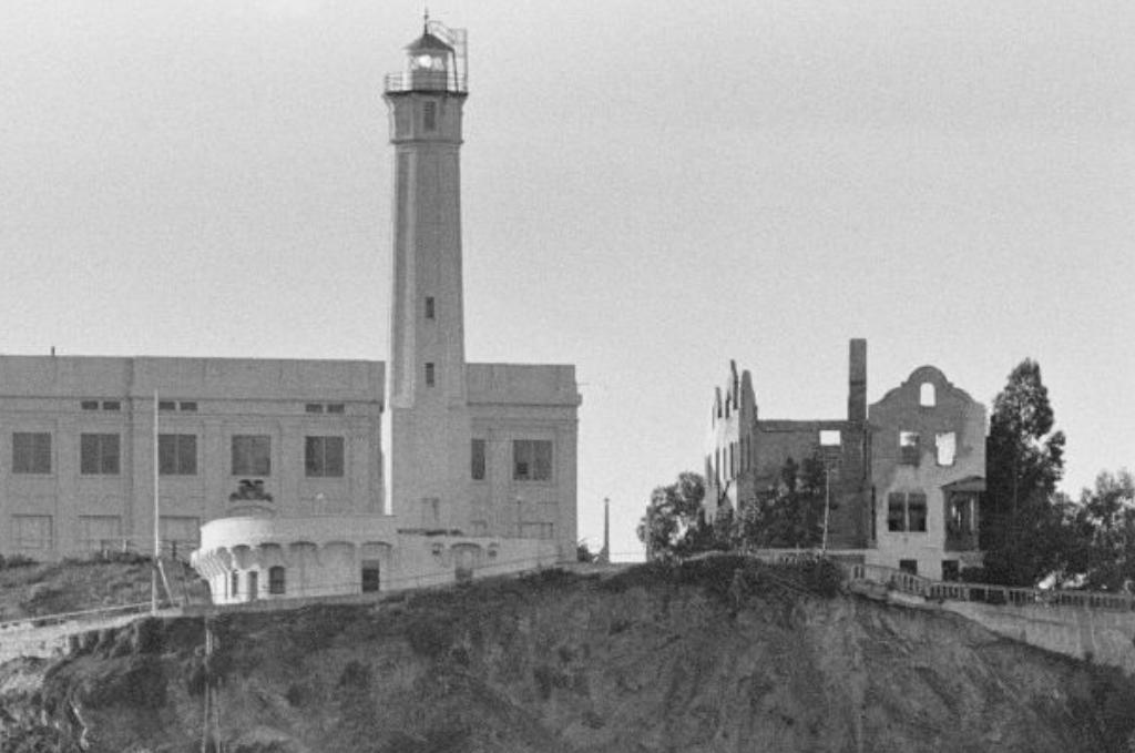 the citadel next to the lighthouse at alcatraz island