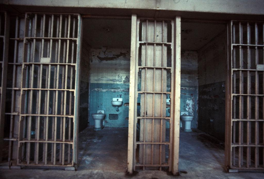 a prison cell on alcatraz island