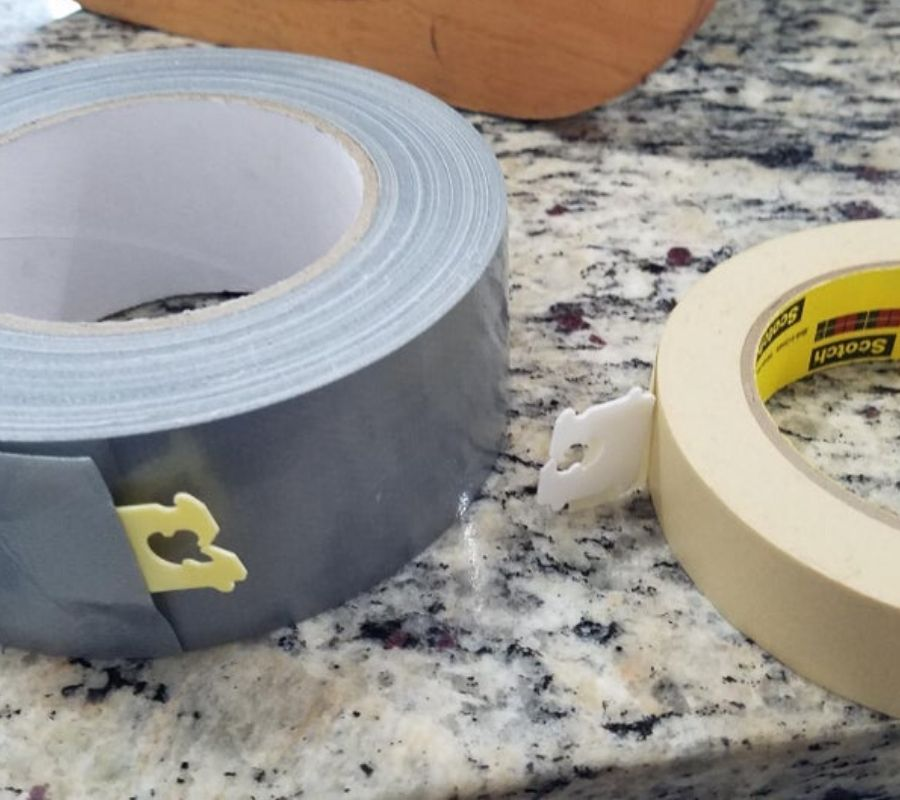 bread tabs used for the end of tape rolls