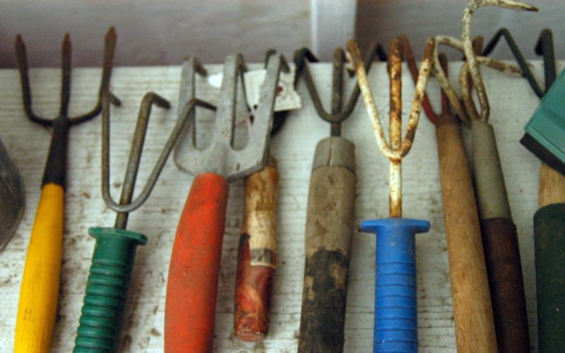 gardening-tools-olive-oil