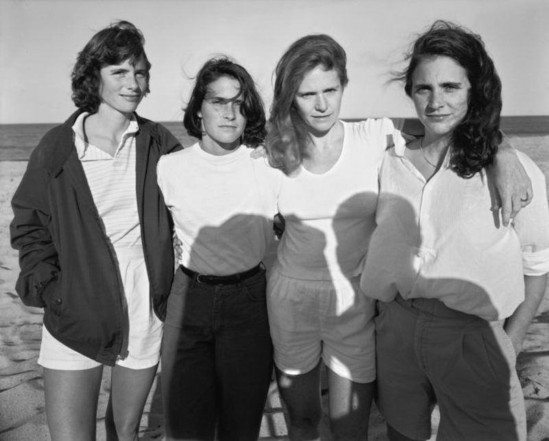 four sisters photo on beach
