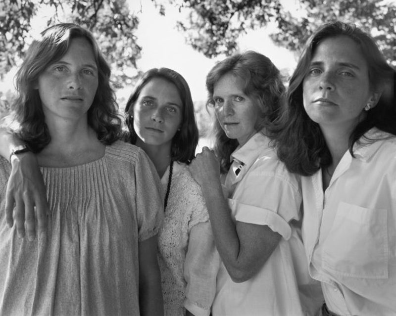 four sisters in trees