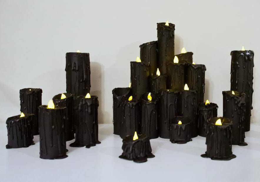A Redditor made electric candles out of toilet paper molds.