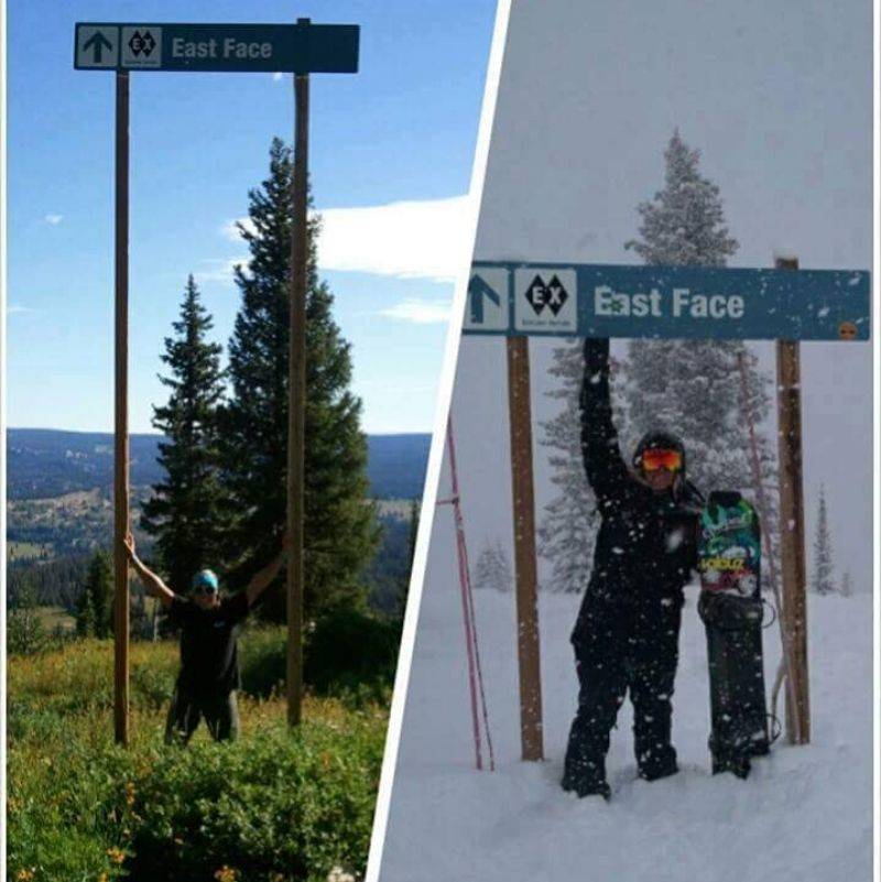 the difference between a sign when there is snow and not