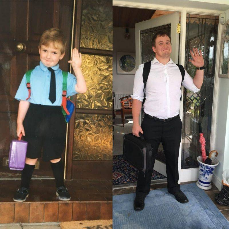 first day of primary school and the last day of teacher training