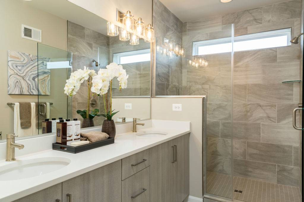 Master Bathroom in the Ashcroft Model Townhome at