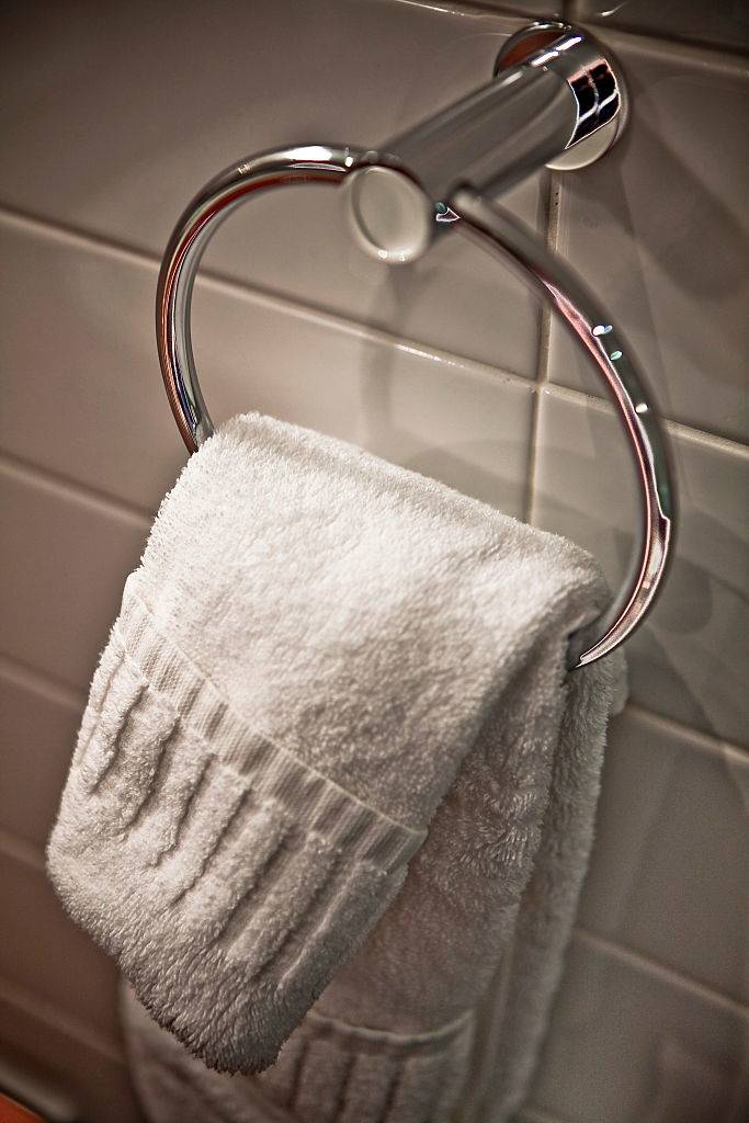 Towel Hanging In A Bath