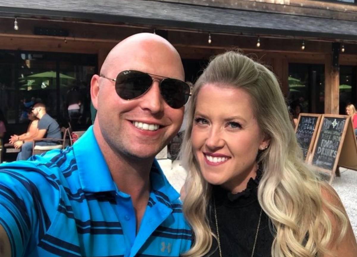 Kathy and Brandon Gunn take a selfie together.