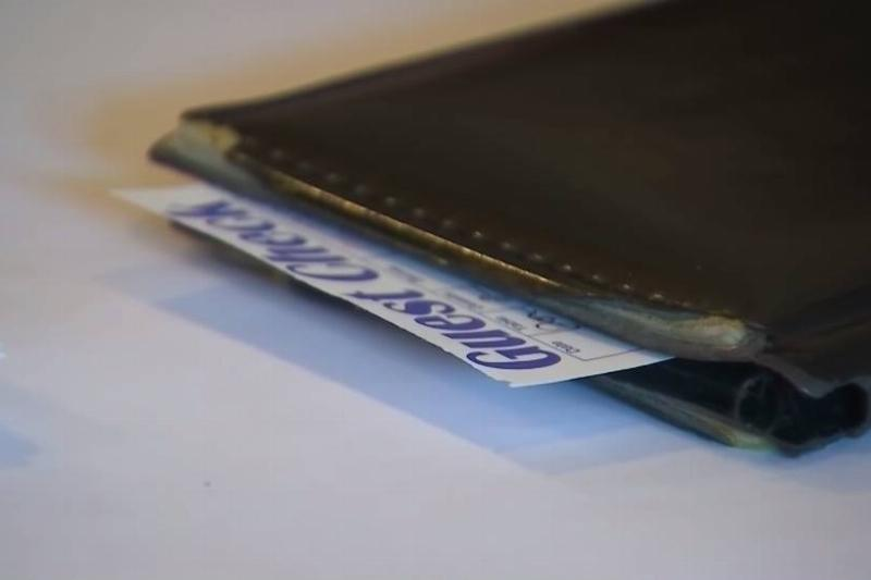 A Patsy's check envelope includes payment from a customer.