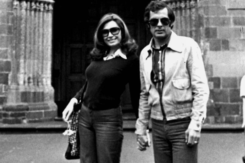 Spanish singer Rocio Jurado and her husband the Spanish boxer Pedro Carrasco, 1976, Madrid, Spain