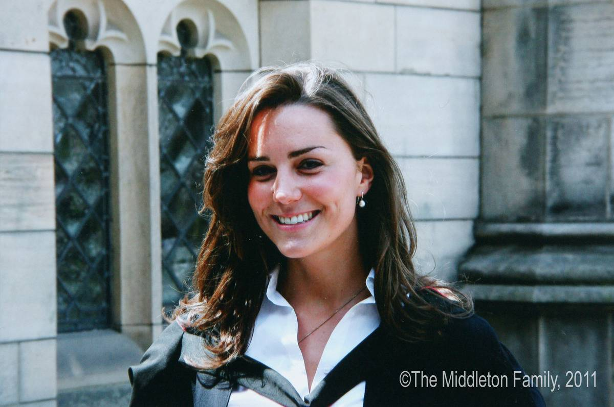 In this Handout Image provided by Clarence House www.officialroyalwedding2011.org, Kate Middleton on the day of her graduation ceremony at St Andrew's University in St Andrew's on June 23, 2005 in Scotland.