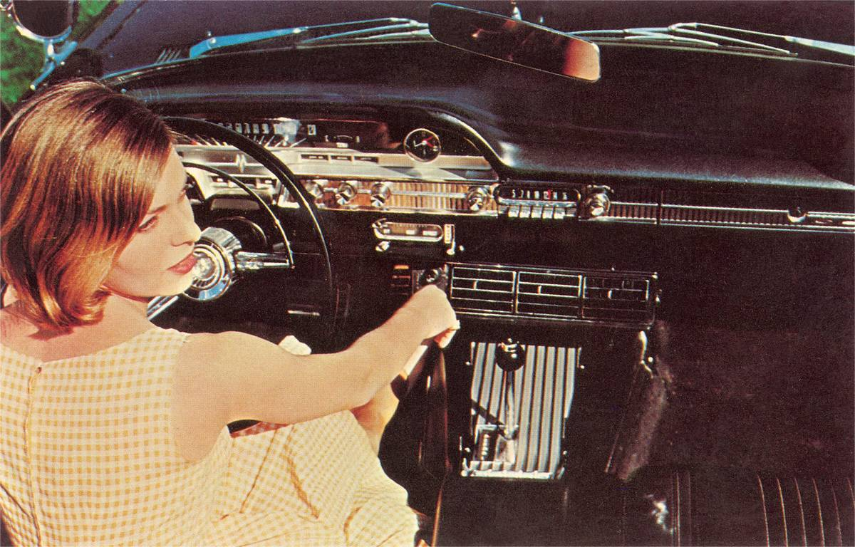 Woman Inside '50s Car