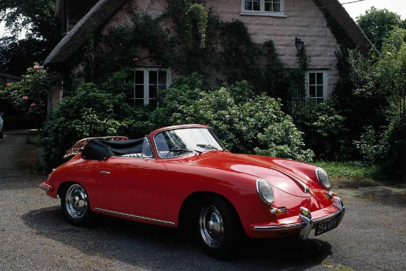 1959 Porsche 356B Super 90. Produced from 1959 the 356B was an improved 356 which featured modifications including a higher nose height at the front, larger bumpers and the addition of a pair of twin-choke carburettors to boost performance. By the time production ended in 1963, over 30,000 had been built