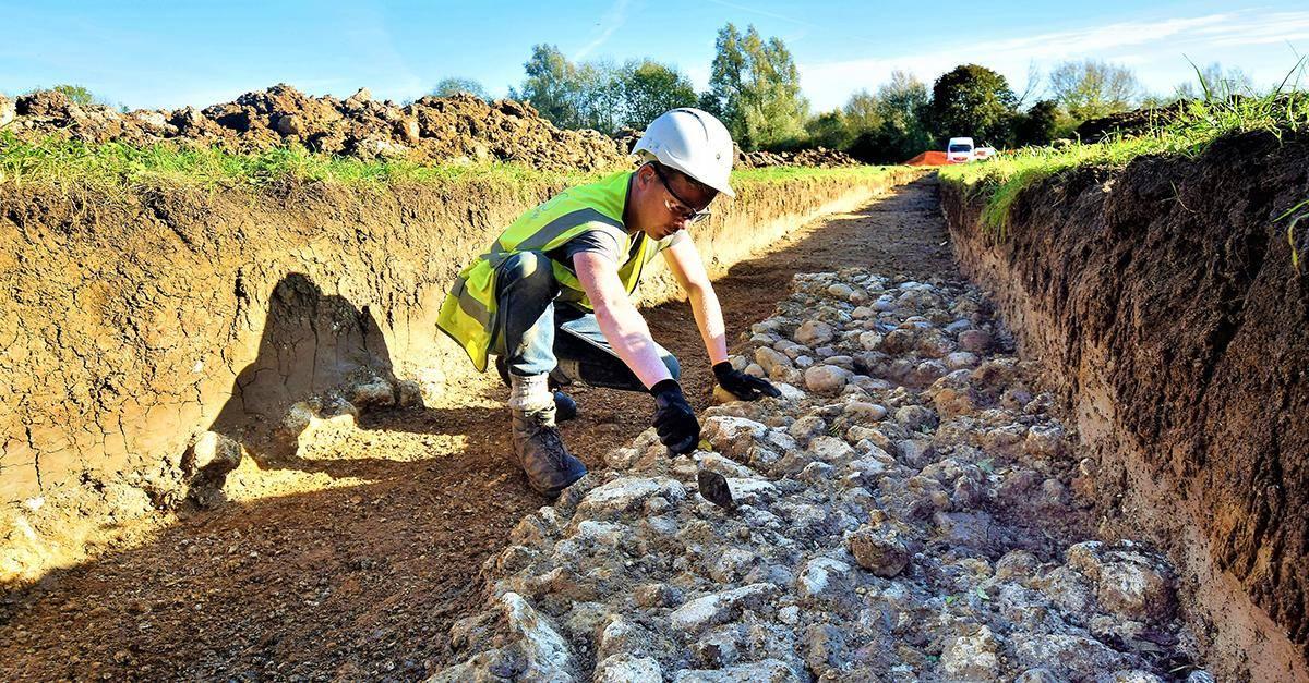 archeologist excavating