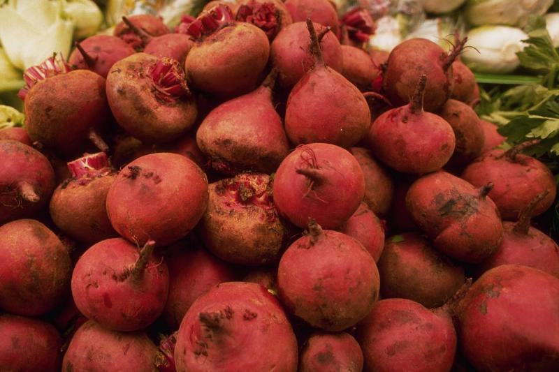 Beets in the Jerusalem market. Israel